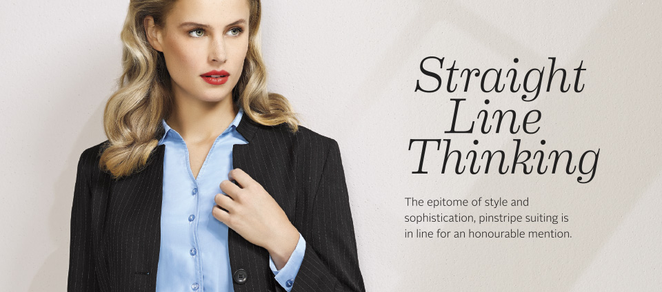 COOL STRETCH PINSTRIPE - For the best in Image with functionality