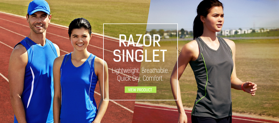 Razor Singlet - Light weight. Breathable. Quick Dry. Comfort.
