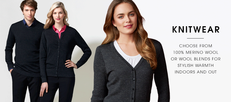 Knitwear - Choose from 100% Merino wool or wool blends for stylish warmth indoors and out