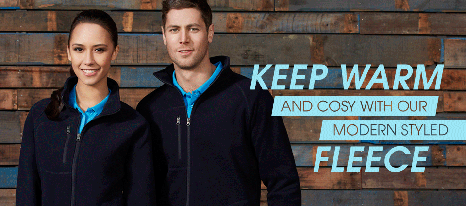 Fleece - Keep warm and cosy with our modern styled fleece