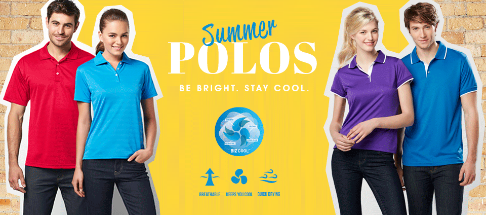 Summer Polos - Be bright. Stay cool